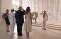President Trump and First Lady Visit USS Arizona Memorial
