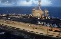 USS Carl Vinson in the Pacific Ocean