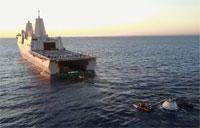 Navy and NASA Complete Underway Orion Recovery Test