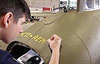 Memphis Belle Restoration: Names Added to Aircraft Feb 2018
