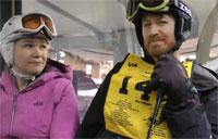 Military Couple Find Friends on the Slopes