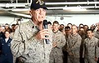 R. Lee Ermey Visits Troops on the USS Iwo Jima