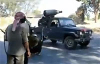 Libyan Rebel Rocket Truck