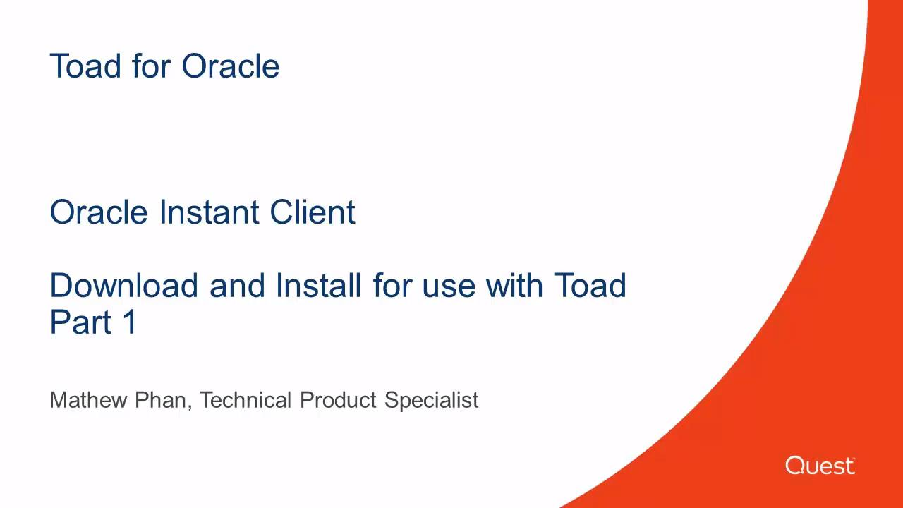 Toad for Oracle - Video and Tutorials
