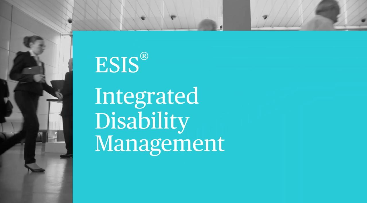 ESIS® Integrated Disability Management