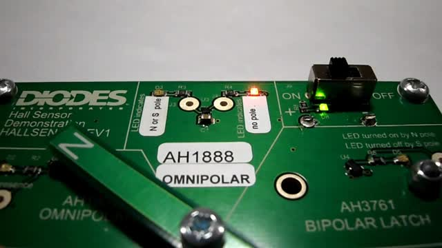 Diodes Inc Hall Sensor Demo board