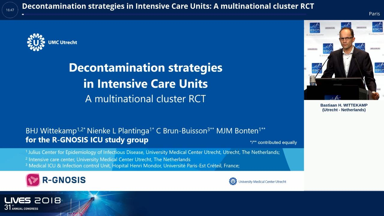 Decontamination Strategies and Bloodstream Infections With