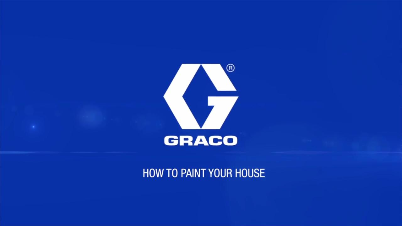 How to Paint Exterior of House with a Sprayer   Graco Homeowner